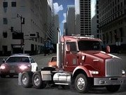 18 Wheeler In Traffic