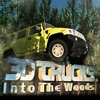 3d Trucks Into the Woods