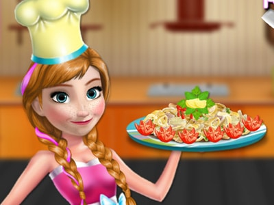 Anna Cooking Pasta