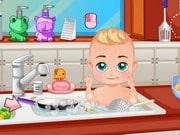 Baby Boy In The Kitchen