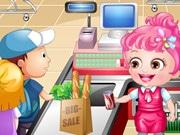 Baby Hazel As Cashier