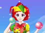 Cute Clown Girl Dress Up