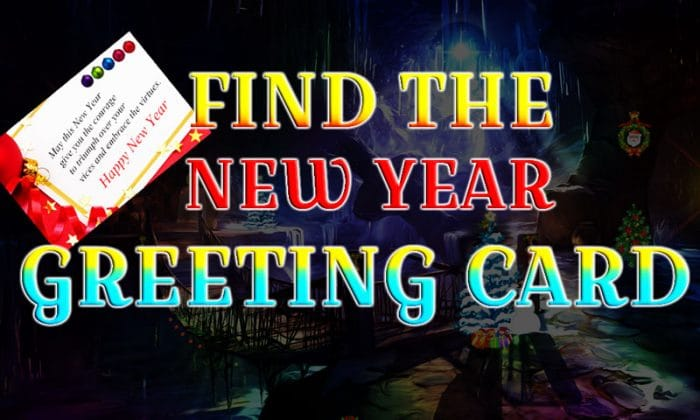 Find The New Year Greeting Card