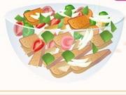 Panzanella Salad Cooking