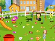 School Garden Cleaning