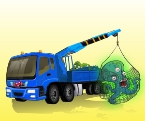 Sea Monster Crane Parking