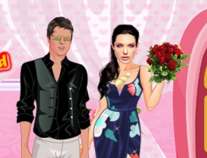 Angelina And Brad Romantic Date