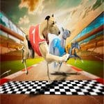 Crazy Dog Racing Game 2020