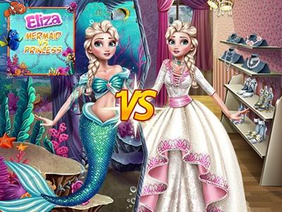 Elsa Mermaid Vs Princess