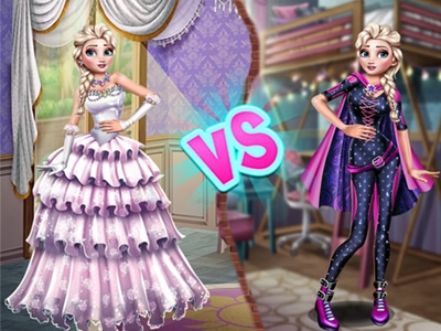 Elsa Superhero Vs Princess