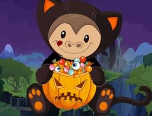 Скачащата маймунка през Хелоуин